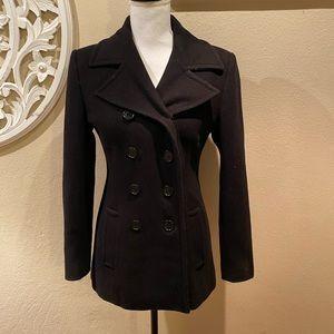 Jones New York Black Pea Coat Size 4P